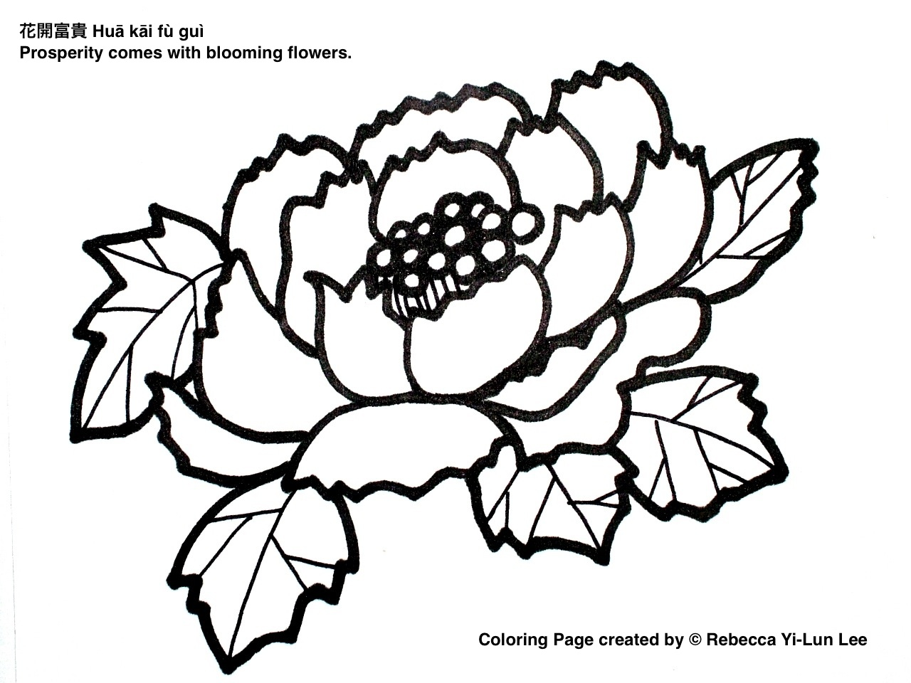 Easy Chinese Flowers Drawings Images Sketch Coloring Page